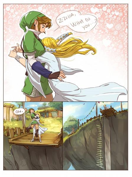 Tags: Anime, Francisca Alday, Zelda no Densetsu: Skyward Sword, Zelda no Densetsu, Link (Skyward Sword), Zelda (Skyward Sword), Princess Zelda, Link, Tunic, Tumblr, Comic, PNG Conversion