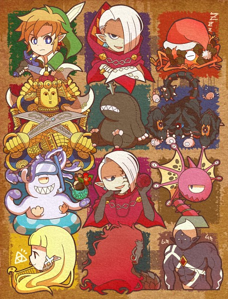 Tags: Anime, Pixiv Id 1493101, Zelda no Densetsu, Zelda no Densetsu: Skyward Sword, The Imprisoned, Ghirahim, Tentalus, Princess Zelda, Demise, Koloktos, Link (Skyward Sword), Moldarach, Zelda (Skyward Sword)
