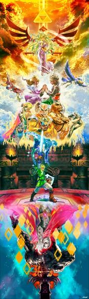 Tags: Anime, L-dawb, Zelda no Densetsu, Zelda no Densetsu: Skyward Sword, Gaepora (Skyward Sword), Impa (Skyward Sword), Fi, Mogma (Skyward Sword), Impa, Zelda (Skyward Sword), Ghirahim, Princess Zelda, Demise