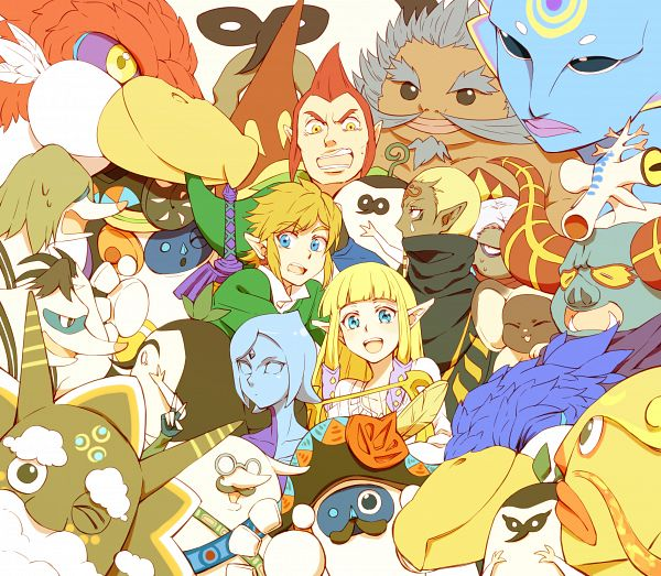Tags: Anime, Saiba (Henrietta), Zelda no Densetsu, Zelda no Densetsu: Skyward Sword, Remlit, Silva (Skyward Sword), Impa, Groose, Faron (Skyward Sword), Fi, Tubert, Princess Zelda, Kikwi
