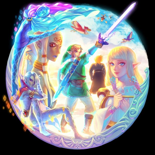 Tags: Anime, Bellhenge, Zelda no Densetsu, Zelda no Densetsu: Skyward Sword, Princess Zelda, Zelda (Skyward Sword), Link, Groose, Demise, Loftwing, Link (Skyward Sword), Fi, Impa