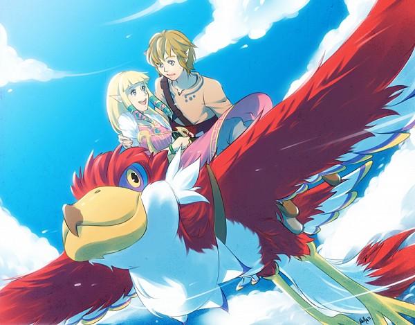 Tags: Anime, Chocographs, Zelda no Densetsu: Skyward Sword, Zelda no Densetsu, Zelda (Skyward Sword), Link, Loftwing, Link (Skyward Sword), Princess Zelda, Lyre, Fanart, deviantART, Fanart From DeviantART