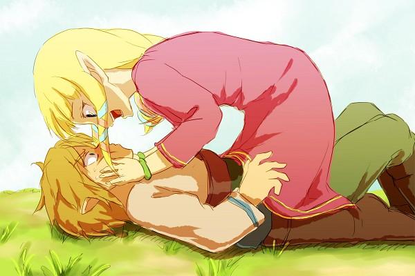 Tags: Anime, Saiba (Henrietta), Zelda no Densetsu, Zelda no Densetsu: Skyward Sword, Link (Skyward Sword), Princess Zelda, Zelda (Skyward Sword), Link, Fanart From Pixiv, Fanart, Pixiv
