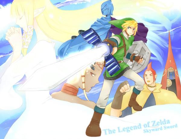 Tags: Anime, Pixiv Id 2586267, Zelda no Densetsu, Zelda no Densetsu: Skyward Sword, Fi, Impa, Link (Skyward Sword), Princess Zelda, Impa (Skyward Sword), Link, Zelda (Skyward Sword), Groose, Master Sword