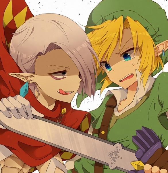 Tags: Anime, Tobari (Brokenxxx), Zelda no Densetsu, Zelda no Densetsu: Skyward Sword, Ghirahim, Link, Link (Skyward Sword), Blue Gem, Master Sword, Pixiv, Fanart From Pixiv, Fanart