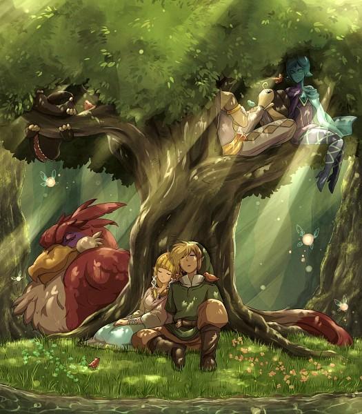 Tags: Anime, Mackerel (Artist), Zelda no Densetsu, Zelda no Densetsu: Skyward Sword, Fi, Princess Zelda, Zelda (Skyward Sword), Ghirahim, Link, Kikwi, The Imprisoned, Loftwing, Link (Skyward Sword)