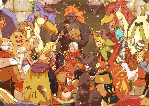 Tags: Anime, Mackerel (Artist), Zelda no Densetsu: Skyward Sword, Zelda no Densetsu, Kikwi, Keese, Impa (Skyward Sword), Batreaux, Loftwing, Bokoblin, Horwell, Impa, Zelda (Skyward Sword)