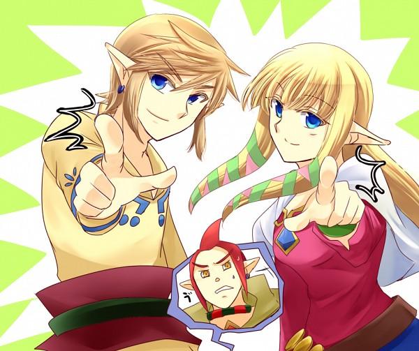 Tags: Anime, Sausu, Zelda no Densetsu: Skyward Sword, Zelda no Densetsu, Zelda (Skyward Sword), Princess Zelda, Groose, Link, Link (Skyward Sword), Fanart From Pixiv, Pixiv, Fanart