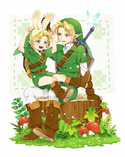 Tags: Anime, Ar (Rikuesuto), Zelda no Densetsu: Toki no Ocarina, Zelda no Densetsu, Link (Toki no Ocarina), Navi, Link, Young Link, Fanart From Pixiv, Pixiv, Fanart