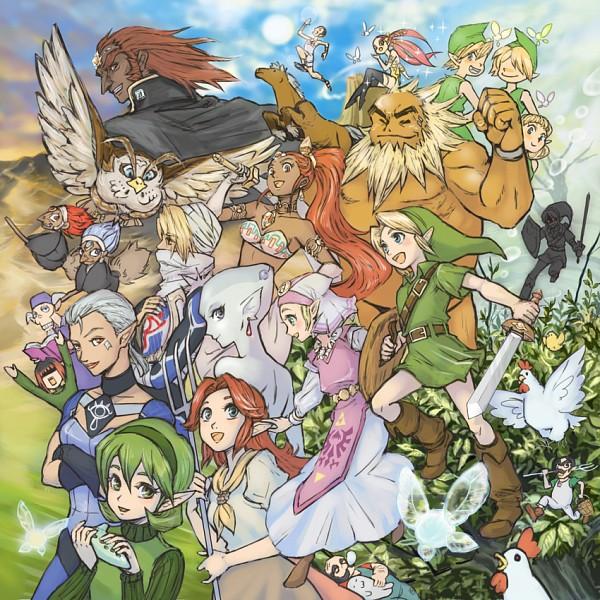 Tags: Anime, Edit5, Zelda no Densetsu, Zelda no Densetsu: Toki no Ocarina, Dark Link, Impa (Toki no Ocarina), Princess Ruto, Darunia, Fado (Ocarina Of Time), Sheik, Young Link, Mido (Toki no Ocarina), Ingo (Toki no Ocarina)