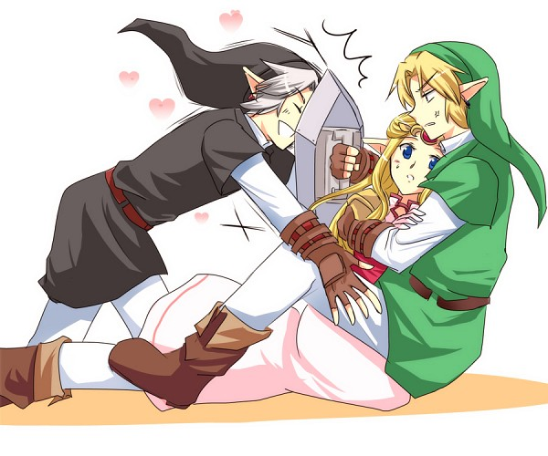 Tags: Anime, Sausu, Zelda no Densetsu, Zelda no Densetsu: Toki no Ocarina, Zelda (Toki no Ocarina), Dark Link, Link (Toki no Ocarina), Princess Zelda, Link, Fanart, Fanart From Pixiv, Pixiv