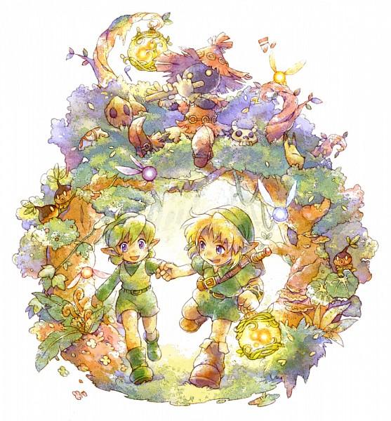 Tags: Anime, Pixiv Id 2188755, Zelda no Densetsu, Zelda no Densetsu: Toki no Ocarina, Navi, Saria, Deku (Zelda no Densetsu), Link, Young Link, Link (Toki no Ocarina), Skull Kid, The Kokiri (Zelda no Densetsu), Fanart