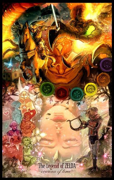 Tags: Anime, Sui-yumeshima, Zelda no Densetsu, Zelda no Densetsu: Toki no Ocarina, Saria, Impa, Rauru, Sheik, Zelda (Toki no Ocarina), Princess Ruto, Darunia, Princess Zelda, Young Link