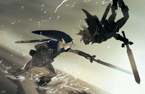 Tags: Anime, Thatld, Zelda no Densetsu, Zelda no Densetsu: Toki no Ocarina, Link (Toki no Ocarina), Dark Link, Link, Master Sword, Fanart From DeviantART, Fanart, deviantART
