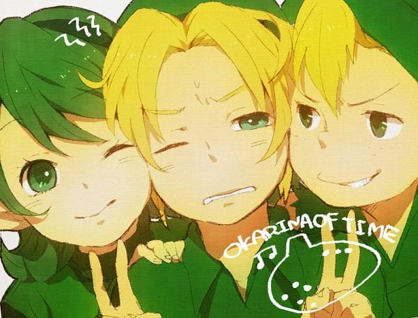 Tags: Anime, Tomo, Zelda no Densetsu, Zelda no Densetsu: Toki no Ocarina, Mido (Toki no Ocarina), Saria, Link (Toki no Ocarina), Link, The Kokiri (Zelda no Densetsu), Fanart, Pixiv, Fanart From Pixiv