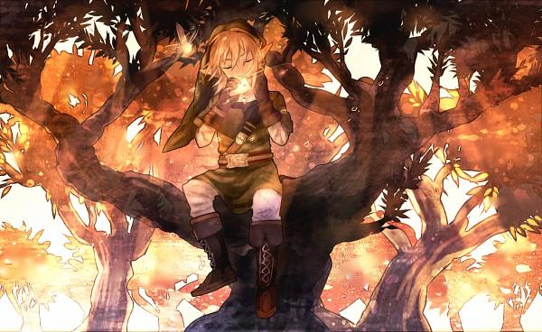 Tags: Anime, Shilla P, Zelda no Densetsu, Zelda no Densetsu: Toki no Ocarina, Link (Toki no Ocarina), Navi, Link, Ocarina, Fanart From Pixiv, Pixiv, Fanart
