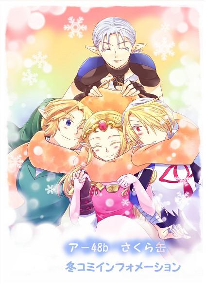 Tags: Anime, Sausu, Zelda no Densetsu, Zelda no Densetsu: Toki no Ocarina, Impa, Link (Toki no Ocarina), Sheik, Princess Zelda, Impa (Toki no Ocarina), Link, Zelda (Toki no Ocarina), Sheikah, Fanart