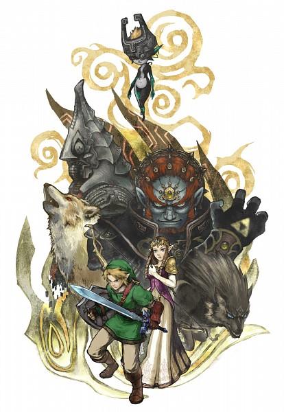 Tags: Anime, Pixiv Id 110962, Zelda no Densetsu: Twilight Princess, Zelda no Densetsu, Wolf Link, Zelda (Twilight Princess), Link, Ganondorf, Link (Twilight Princess), Zant, Midna, Princess Zelda, Triforce