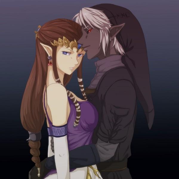 Tags: Anime, Saiba (Henrietta), Zelda no Densetsu: Twilight Princess, Zelda no Densetsu, Princess Zelda, Zelda (Twilight Princess), Link, Dark Link