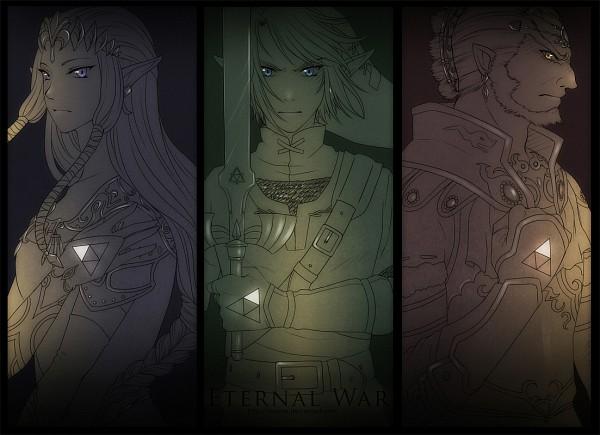Tags: Anime, Rueme, Zelda no Densetsu, Zelda no Densetsu: Twilight Princess, Ganondorf, Princess Zelda, Link, Zelda (Twilight Princess), Link (Twilight Princess), Triforce, Master Sword, Fanart, Fanart From DeviantART