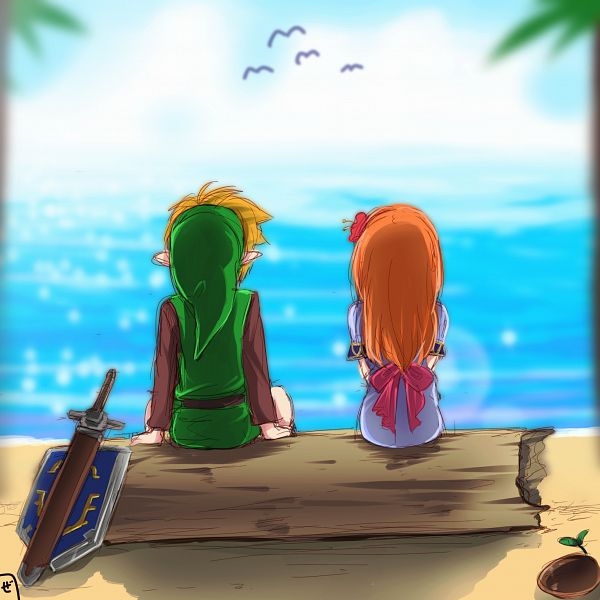 Tags: Anime, Pixiv Id 4463885, Zelda no Densetsu: Yume o Miru Shima, Zelda no Densetsu, Marin (Yume o Miru Shima), Link, Link (Yume o Miru Shima), The Legend Of Zelda: Link's Awakening
