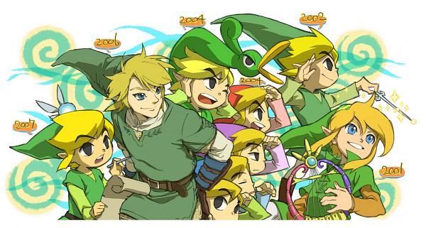 Tags: Anime, Pixiv Id 2250695, Zelda no Densetsu: Kaze no Takuto, Zelda no Densetsu: Mugen no Sunadokei, Zelda no Densetsu: Fushigi no Ki no Mi, Zelda no Densetsu: Fushigi no Boushi, Four Swords, Zelda no Densetsu, Zelda no Densetsu: Twilight Princess, Ezlo, Link (Kaze no Takuto), Link, Link (Twilight Princess), The Legend Of Zelda