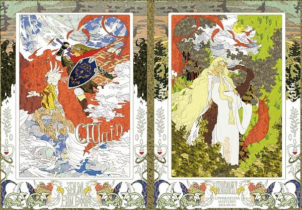 Tags: Anime, Pixiv Id 3927416, Zelda no Densetsu, Link, Loftwing, Princess Zelda, Goddess Hylia, Pixiv, Fanart From Pixiv, Fanart, The Legend Of Zelda