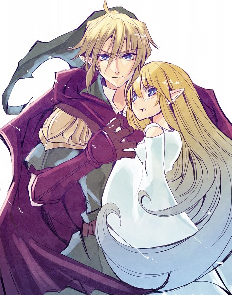 Tags: Anime, Pixiv Id 5397390, Zelda no Densetsu, Goddess Hylia, Link, Protecting, Pixiv, Fanart From Pixiv, Fanart, The Legend Of Zelda