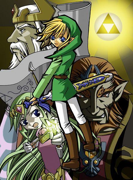 Tags: Anime, Pixiv Id 27992, Zelda no Densetsu: Triforce Sanjuushi, Zelda no Densetsu, Ganondorf, King Tuft, Link, King, Triforce, The Legend Of Zelda