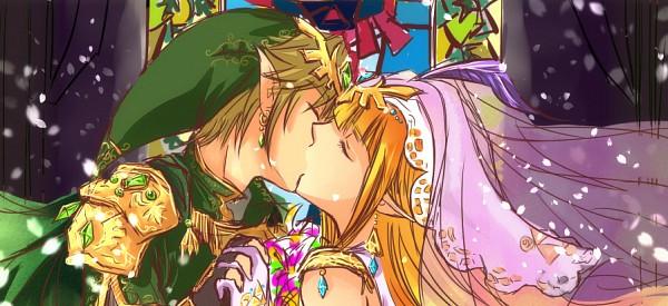 Tags: Anime, Zelda no Densetsu, Princess Zelda, Link, Triforce, Green Gem, Blue Gem, Facebook Cover, Fanart, Artist Request, The Legend Of Zelda