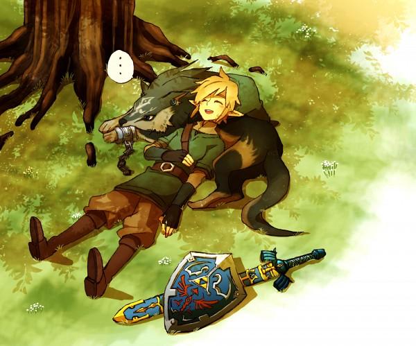 Tags: Anime, Hosuke, Zelda no Densetsu, Zelda no Densetsu: Skyward Sword, Zelda no Densetsu: Twilight Princess, Link (Skyward Sword), Link (Twilight Princess), Wolf Link, Link, Master Sword, The Legend Of Zelda