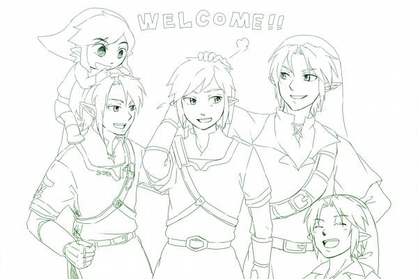 Tags: Anime, Saiba (Henrietta), Zelda no Densetsu: Kaze no Takuto, Zelda no Densetsu: Toki no Ocarina, Zelda no Densetsu, Zelda no Densetsu: Twilight Princess, Zelda no Densetsu: Skyward Sword, Young Link, Link (Toki no Ocarina), Link, Link (Skyward Sword), Link (Twilight Princess), Link (Kaze no Takuto), The Legend Of Zelda
