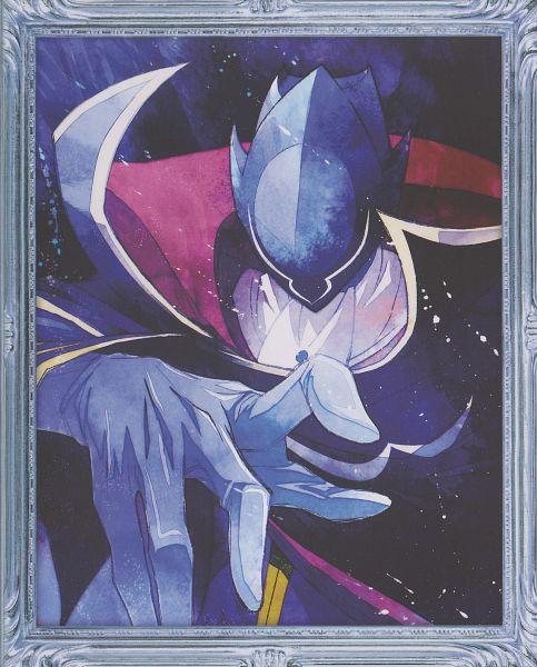 Tags: Anime, Kimura Takahiro, CODE GEASS: Hangyaku no Lelouch, Zero (CODE GEASS), Lelouch Lamperouge, Scan, DVD (Source), Official Art