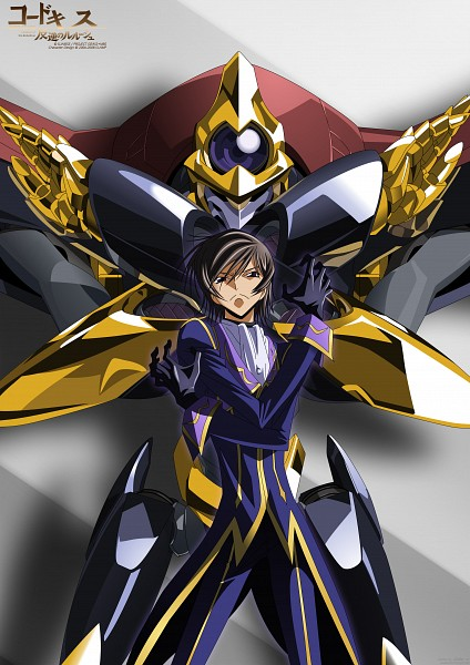 Tags: Anime, CODE GEASS: Hangyaku no Lelouch, Shinkirou (Code Geass), Lelouch Lamperouge, Zero (CODE GEASS), Knightmare, R2, Mobile Wallpaper, Vector