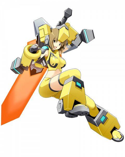Tags: Anime, Cyberstep, Cosmic Break, Zero Saber Girl, Broadsword, Yellow Legwear, Official Art
