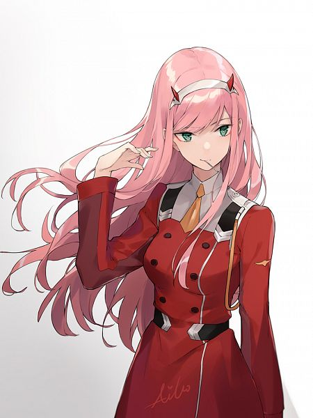 Tags: Anime, AIKO (Pixiv14760875), Darling in the FranXX, Zero Two (Darling in the FranXX), Fanart From Pixiv, Pixiv, Fanart