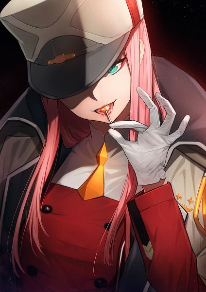 Tags: Anime, Pixiv Id 8529607, Darling in the FranXX, Zero Two (Darling in the FranXX), Hat Over One Eye, Fanart From Pixiv, Pixiv, Fanart