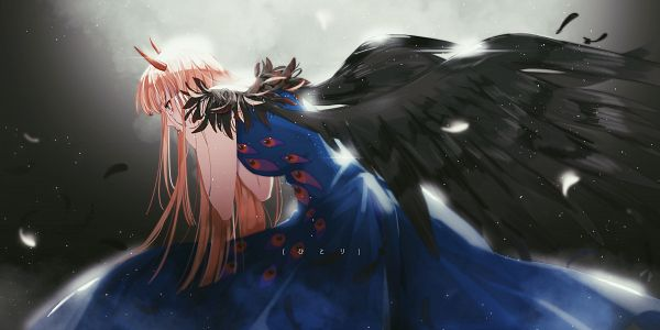 Tags: Anime, Hachitoge, Darling in the FranXX, Zero Two (Darling in the FranXX), Fanart From Pixiv, Pixiv, Fanart