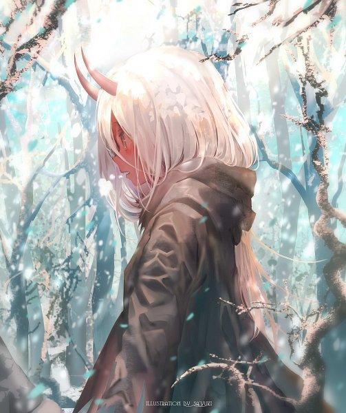 Tags: Anime, SA'yuki, Darling in the FranXX, Zero Two (Darling in the FranXX), Covered Face, Red Skin, Fanart, Fanart From Pixiv, Pixiv