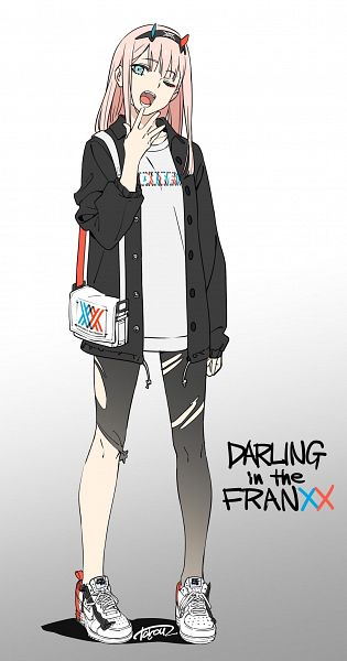 Tags: Anime, Yoneyama Mai, Darling in the FranXX, Zero Two (Darling in the FranXX), Pixiv, Fanart, Fanart From Pixiv