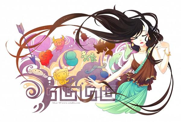 Tags: Anime, Zetallis, Vase, Crab, Virgo, Scorpion, Greek Key Pattern, Original, Zodiac