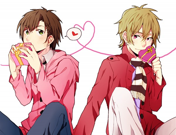 Tags: Anime, Pixiv Id 2184522, Zetsuen no Tempest, Takigawa Yoshino, Fuwa Mahiro, Chocolate Box, Heart Box, Pixiv, Blast Of Tempest