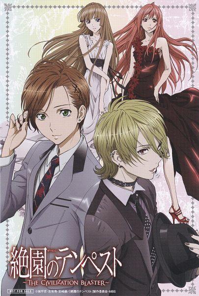 Tags: Anime, Zetsuen no Tempest, Kusaribe Hakaze, Takigawa Yoshino, Fuwa Aika, Fuwa Mahiro, Mobile Wallpaper, Official Art, Scan, Blast Of Tempest