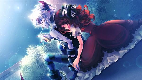 Tags: Anime, Karin Entertainment, Zettai Meikyuu Grimm ~Nanatsu no Kagi to Rakuen no Otome~, Muma (Zettai Meikyuu Grimm), Henrietta Grimm, Facebook Cover, CG Art, Labyrinth Of Grimm