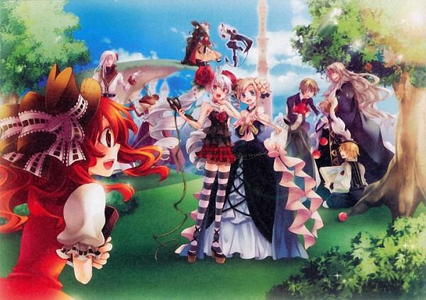 Tags: Anime, Karin Entertainment, Zettai Meikyuu Grimm ~Nanatsu no Kagi to Rakuen no Otome~, Rapunzel (Zettai Meikyuu Grimm), Henrietta Grimm, Wilhelm Grimm, Jacob Grimm, Hamelin (Zettai Meikyuu Grimm), Frog Prince (Zettai Meikyuu Grimm), Rui Grimm, Akazukin (Zettai Meikyuu Grimm), Prinz Des Dornes (Character), Muma (Zettai Meikyuu Grimm), Labyrinth Of Grimm