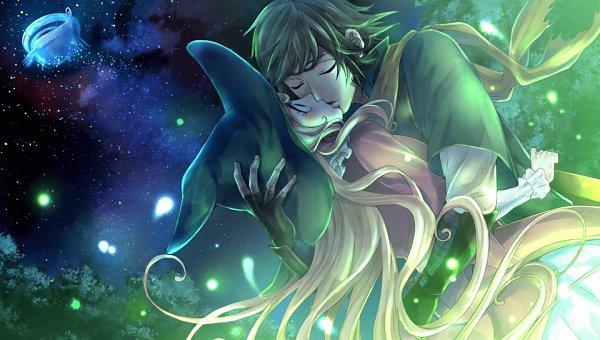 Tags: Anime, Shiroma (Pixiv3880449), Karin Entertainment, Zettai Meikyuu Himitsu no Oyayubi-hime, Lune (Zettai Meikyuu Himitsu No Oyayubi-hime), Charlotte (Zettai Meikyuu Himitsu no Oyayubi-hime), Surprise Kiss, Official Art, CG Art