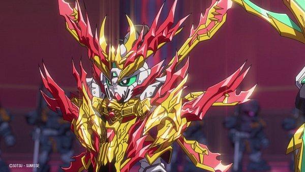 Tags: Anime, Sunrise (Studio), SD Gundam World Sangoku Soketsuden, Zhang Fei God Gundam, HD Wallpaper, Screenshot, Twitter, Wallpaper, Official Art, Gundams