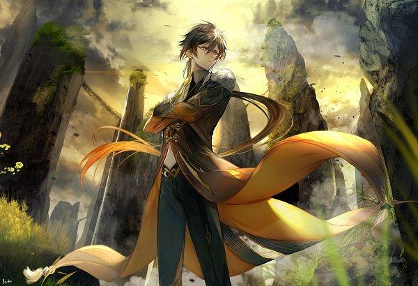 Tags: Anime, Pixiv Id 1526748, Genshin Impact, Zhongli, Pixiv, Fanart, Fanart From Pixiv