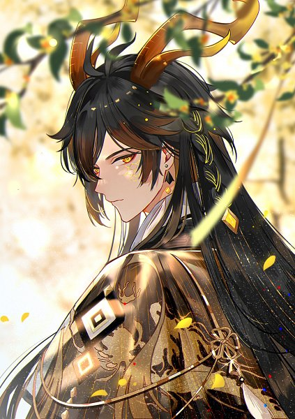 Tags: Anime, Qing11502143, Genshin Impact, Zhongli, Alternate Appearance, Twitter
