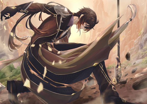 Tags: Anime, Pixiv Id 34463964, Genshin Impact, Zhongli, Fanart, Fanart From Pixiv, Pixiv